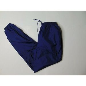 Vintage Nike M Windbreaker Jogger Track Pants Blue
